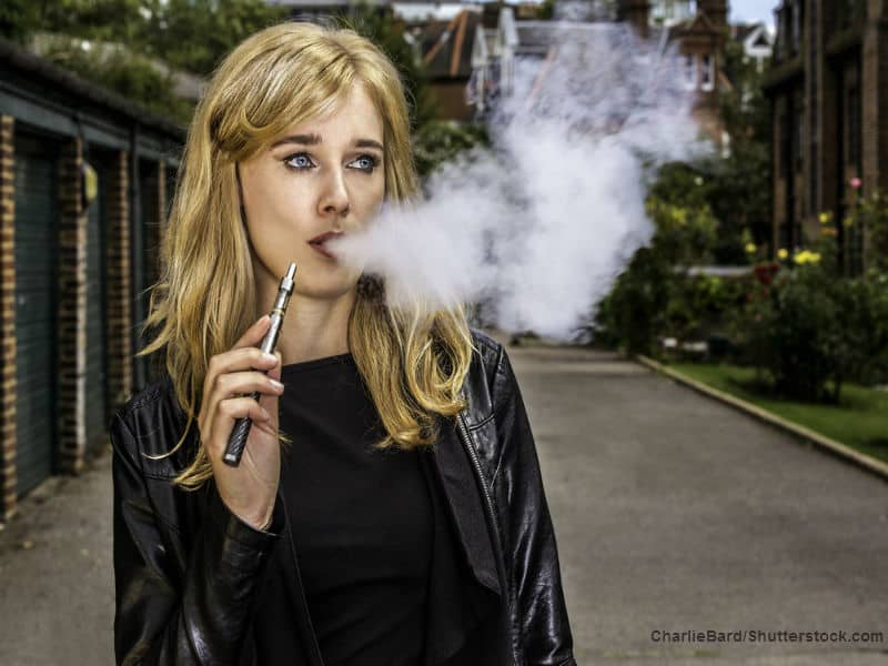 cool chick with cig