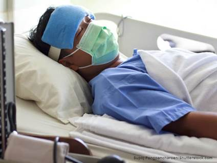 Sick Man Hospital Bed