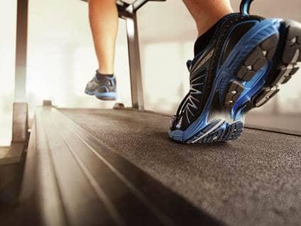 Running on treadmill