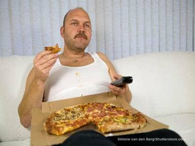 Simone van den Berg Man with Pizza
