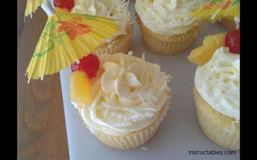 Pina Colda Cupcakes