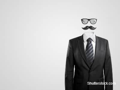 Moustache Head in Suit