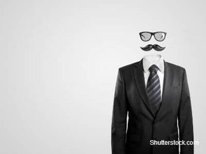 Moustache Head in Suit