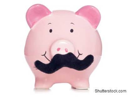 Pig with Moustache