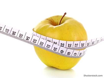 weight-loss-apple-measure