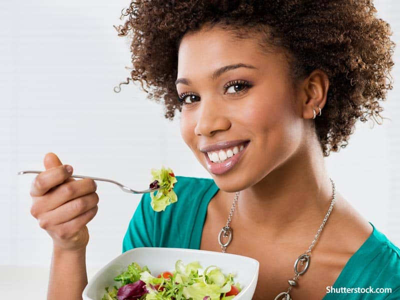 woman eating healthy