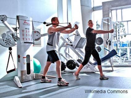 Training at Gym