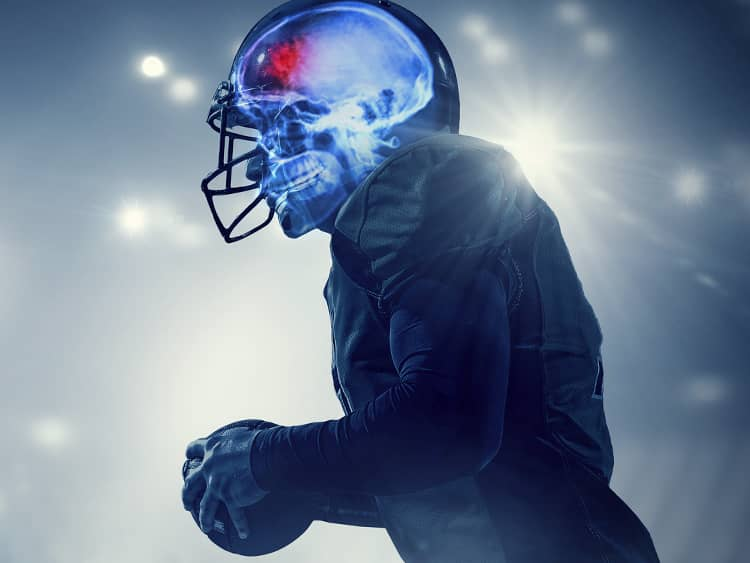 Football Player with Concussion