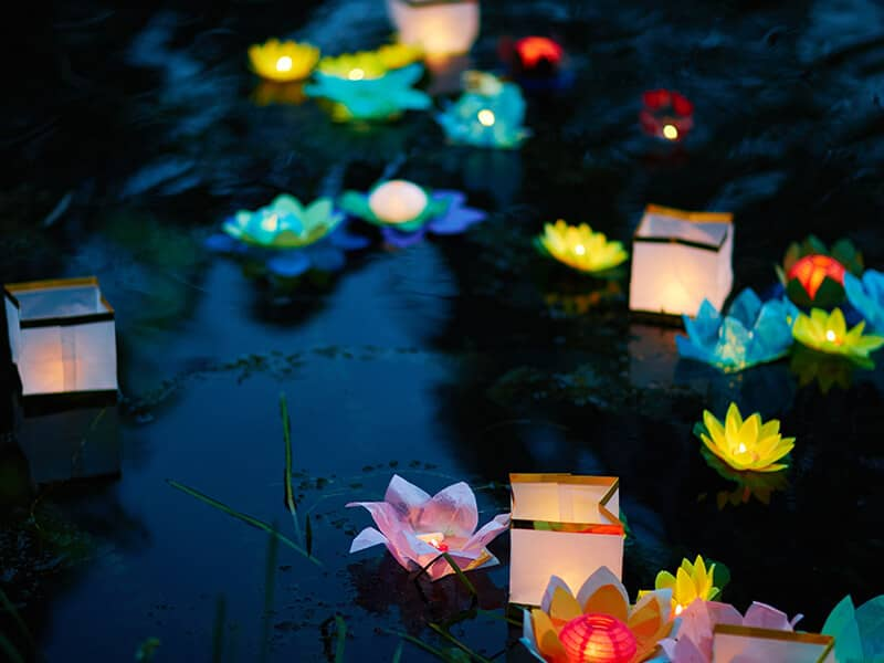 Asian lanterns Obon Festival