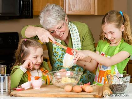 Grandma Baking With Kids