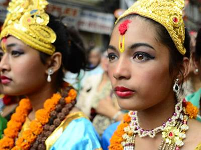 Nepalese Women Traditional Attire