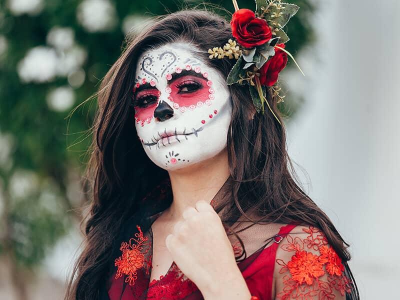 sugar skull facepaint day of the dead