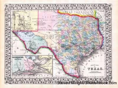 Texas Map Steven Wright