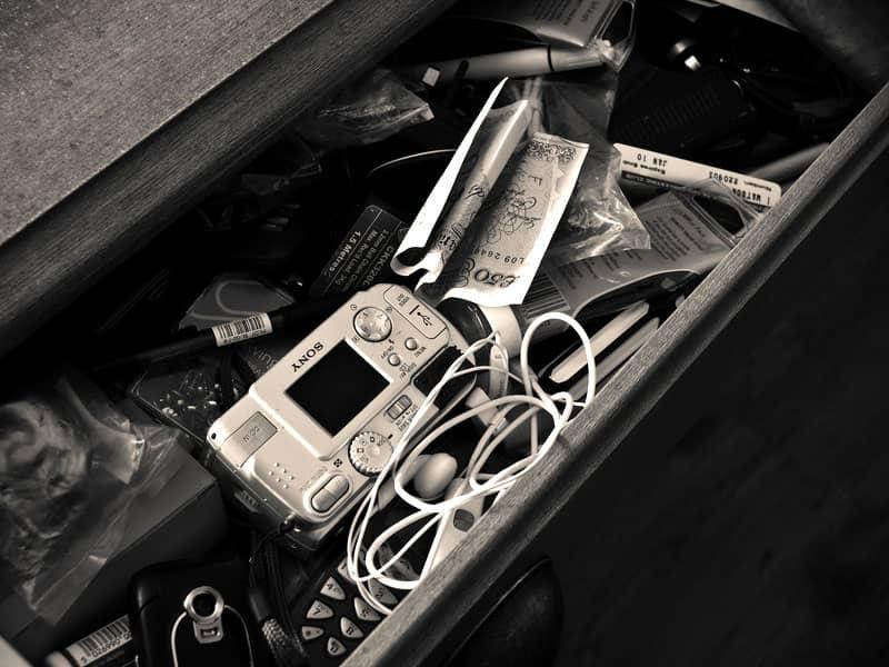 Messy drawer