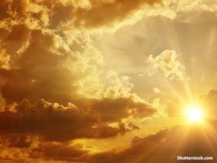 Heavenly clouds sun