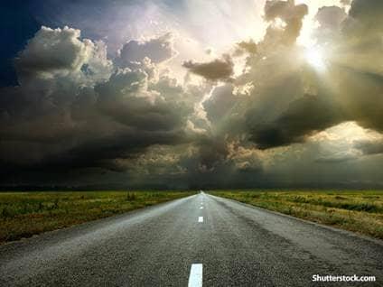 nature road clouds