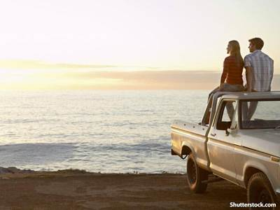 people beach sunset