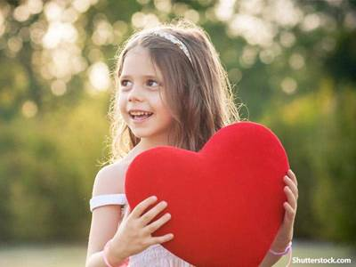 people girl with heart