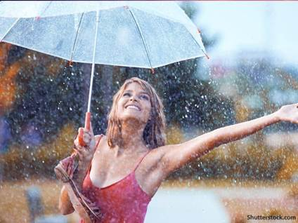 people woman rain