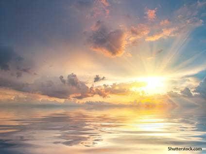 dramatic sunset ocean