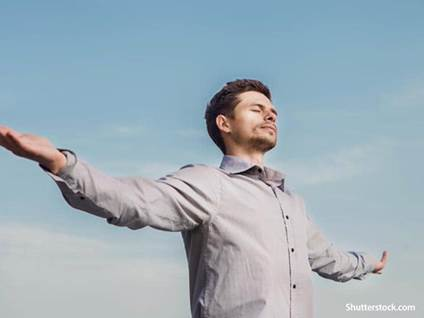 Faith Man praying praising