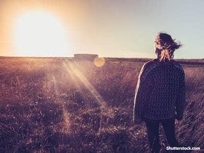 Girl Looking at Sun