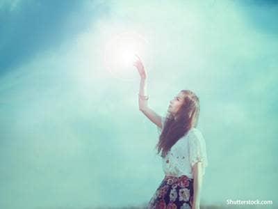 Woman Seeing Light