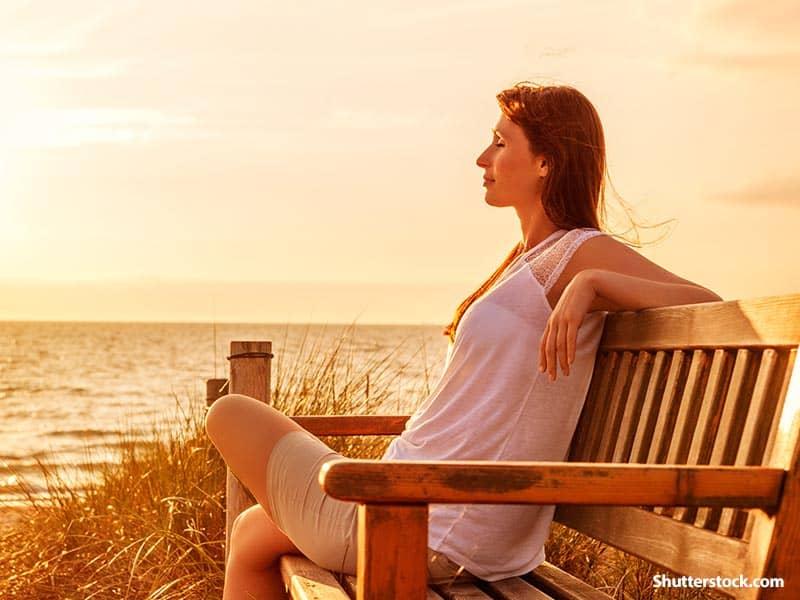 Woman Thinking Beach