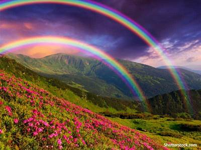 scenic rainbow mountains