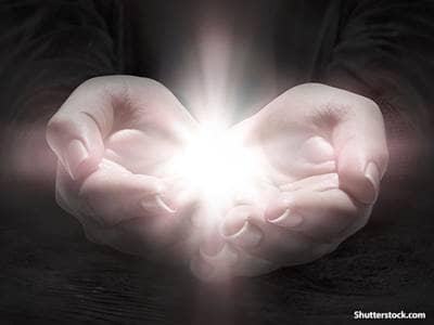 spiritual praying hands