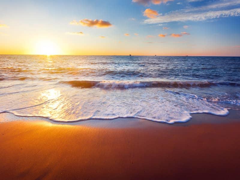 sun, ocean