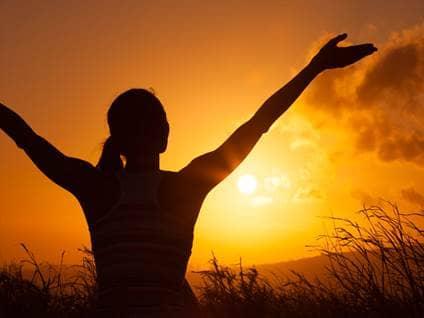 woman praise