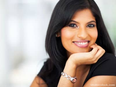 woman, smiling, work