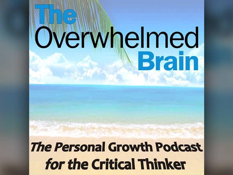 The Overwhelmed Brain beach logo
