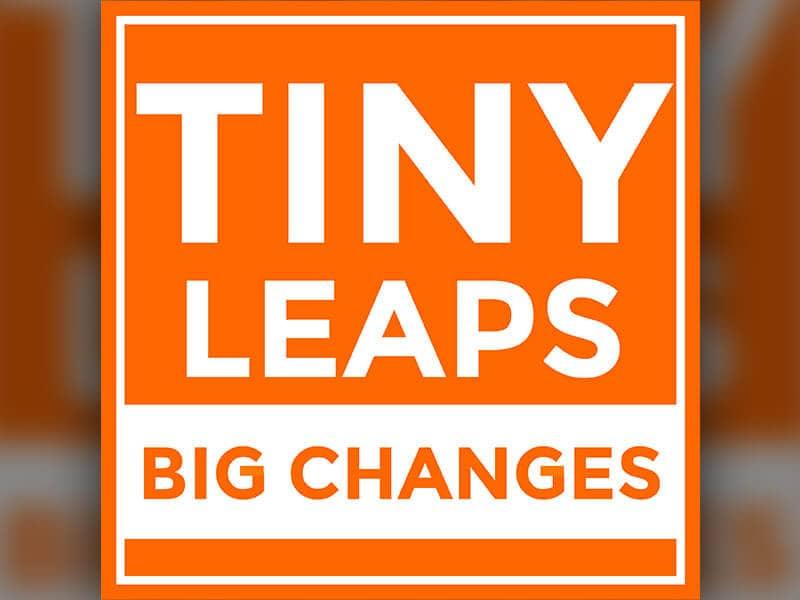 Orange Tiny Leaps, Big Changes logo