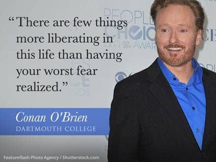 Conan O'Brien Graduation Speech Quote