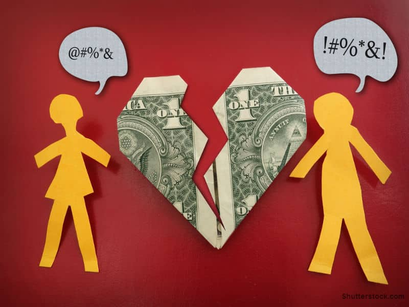 broken relationship money