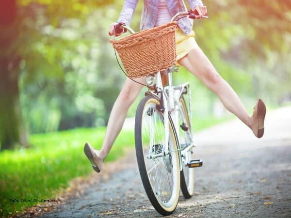 Girl bike riding