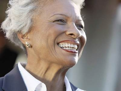 elder woman smiling