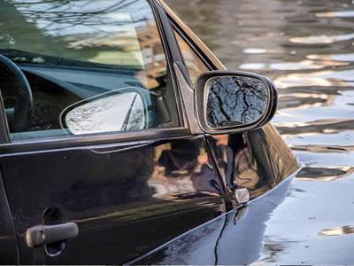 submerged car