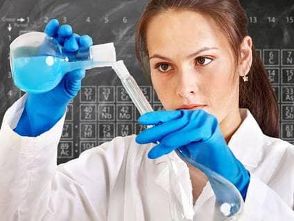 science lab woman