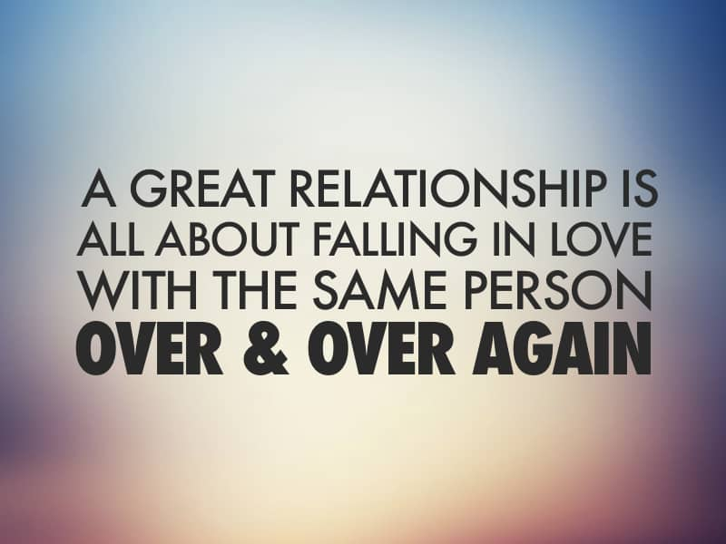 Falling In Love Again With The Same Person
