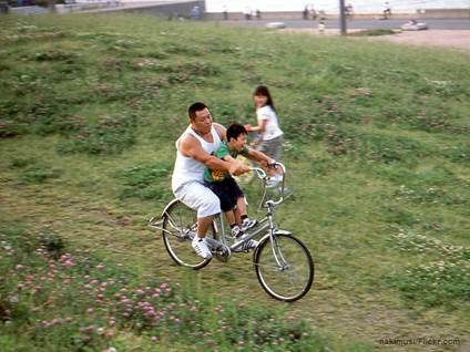 Father son bike Japan
