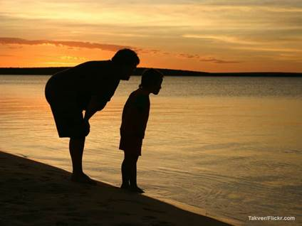 Mother Son Silhouette Australia
