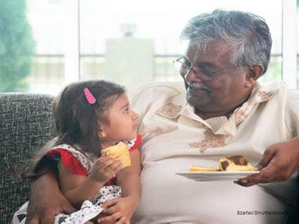 Grandpa with Granddaughter