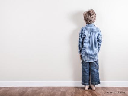 Child Facing Wall