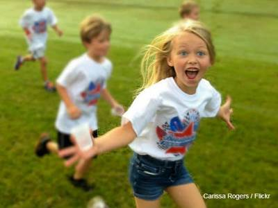 Happy Girl Running