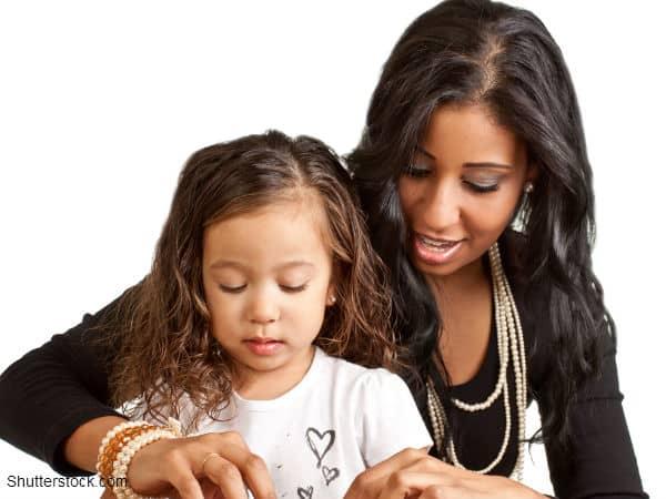 Mom Helping Daughter