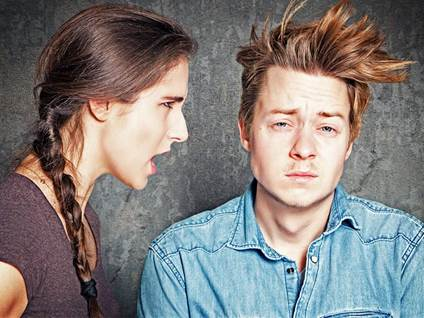 couple, arguing, hair