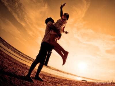 Couple Sunset Lifting